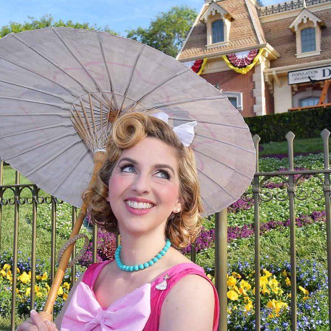 Cinderella Dapper Day with handpainted Parasol