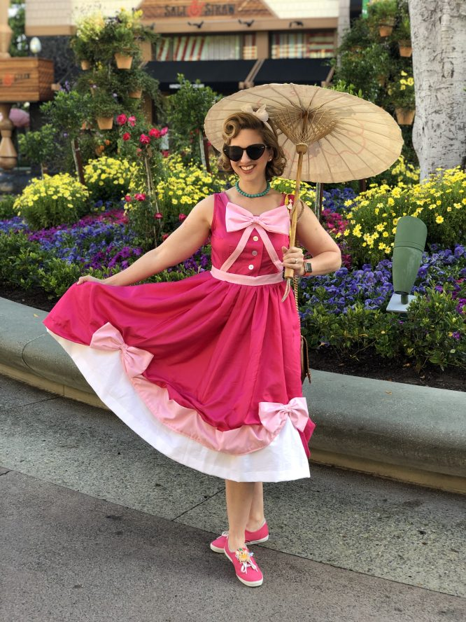 Pink Cinderella Dapper Day with handpainted Parasol