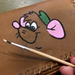 Hand Painted Cinderella Purse with Gus Gus