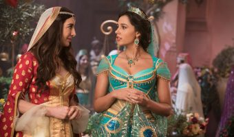 A close up of Jasmine's bodice and her handmaiden from Disney Aladdin Live Action