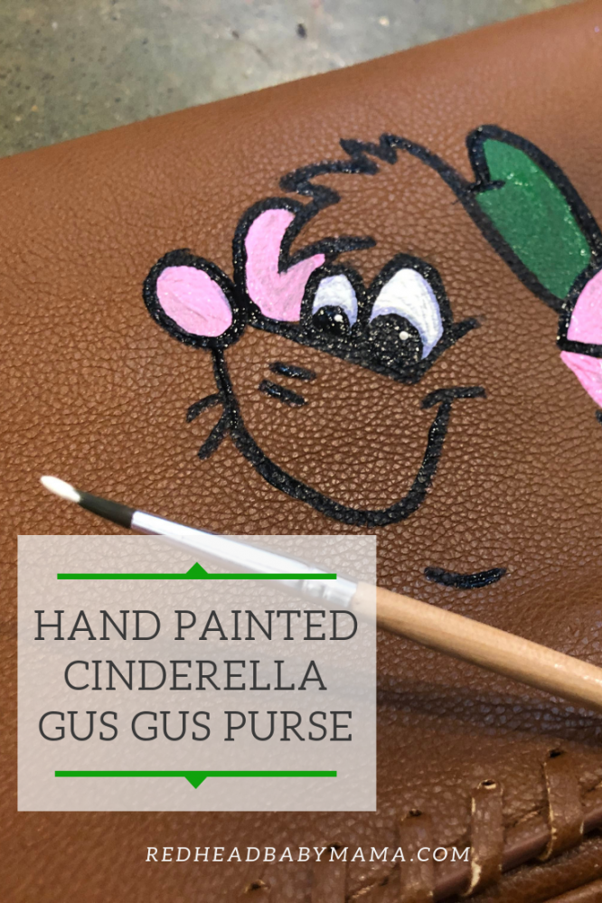 Gus Gus Cinderella Purse Hand painted Pinterest Image