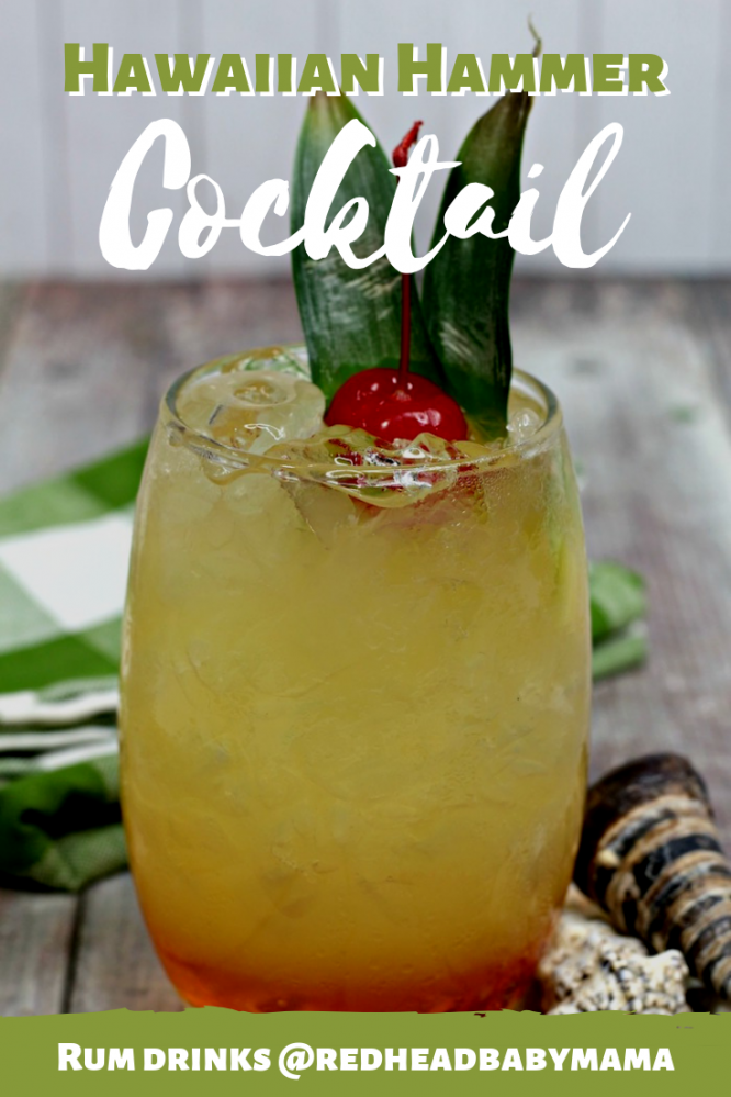 Hawaiian Hammer Cocktail Pinterest Image