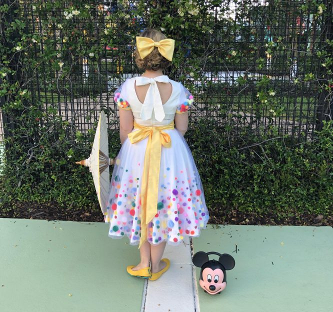 back of the Minnie Celebration 90th birthday dress