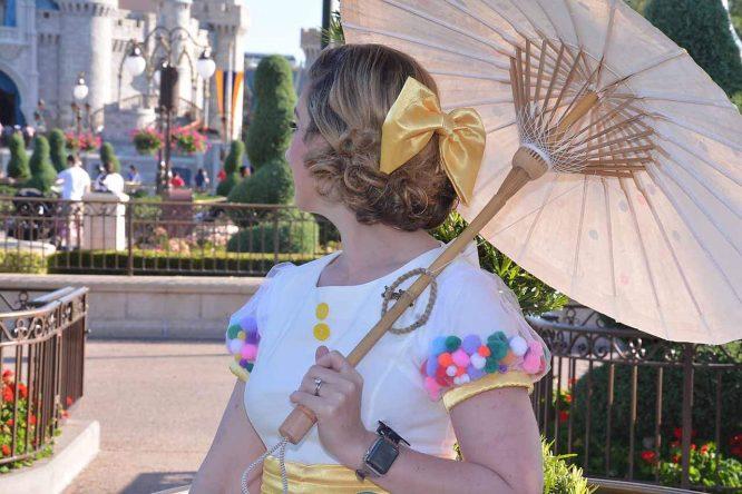Dapper Disneybound minnie Celebration Dress for her 90th birthday