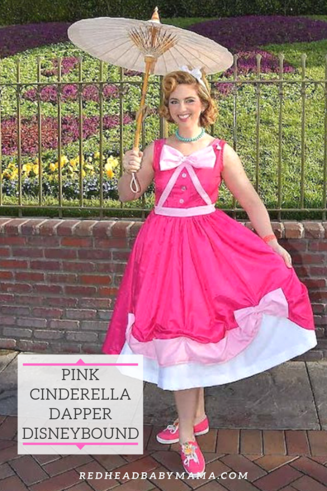 Cinderella Pink Dress look for Dapper Day, pinable image.