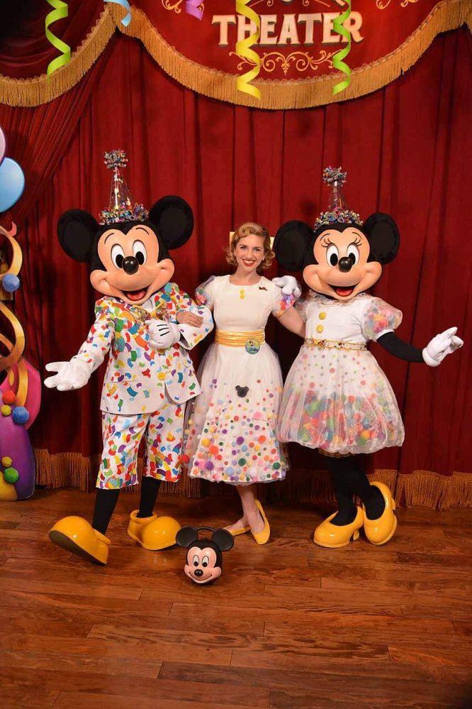 Birthday Celebration Minnie and Mickey Disneybound dress