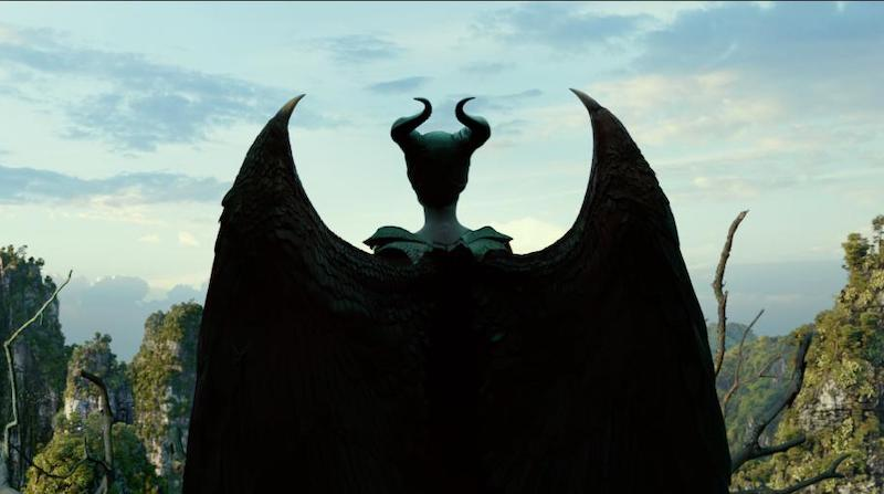 maleficent wings and horns back view