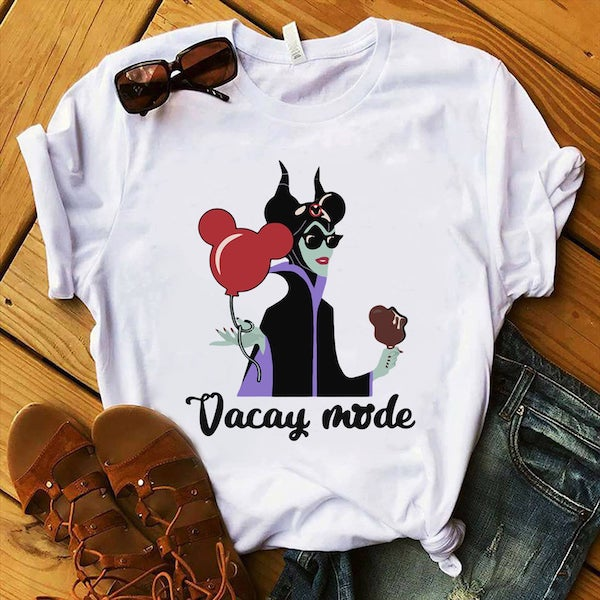 Mal vaca mode cheeky tshirt with wdw accessories