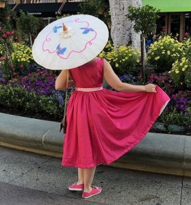 Pink Cinderella Dress for Dapper Day Disneybound backside