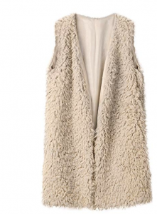 furry sherpa vest for women