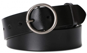 black leather belt with circle silver buckle for viking vlad disneybound