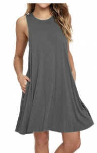 basic gray tank dress with pockets
