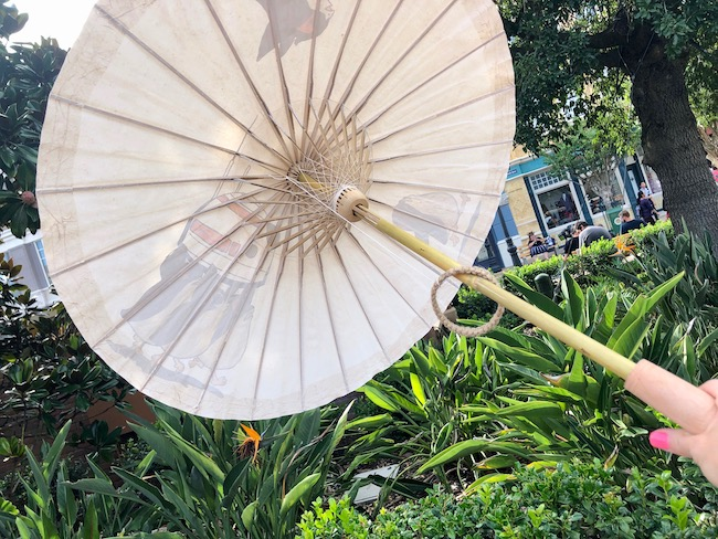 Bamboo Parasol, handpainted and water proofed