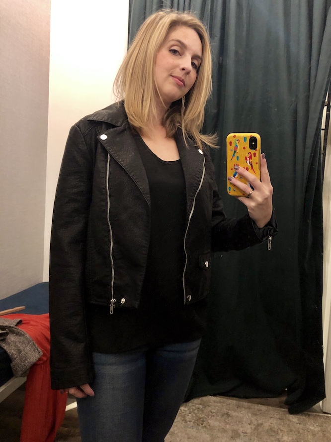 fall trends - black leather and motorcycle jackets