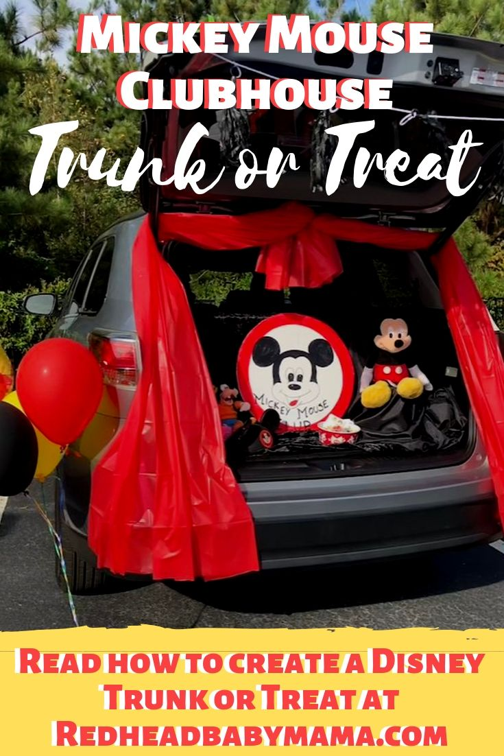Mickey Mouse Club House Trunk or Treat with Mousketeer Costume
