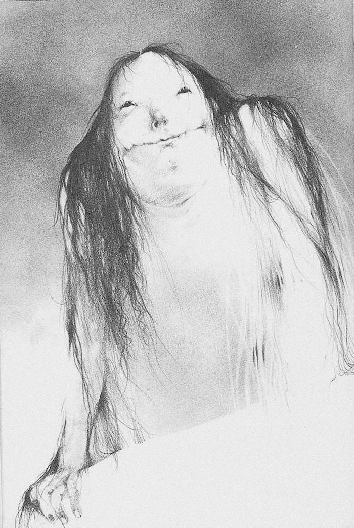 Scary Stories to Tell in the Dark Pale Lady Illustration with ink