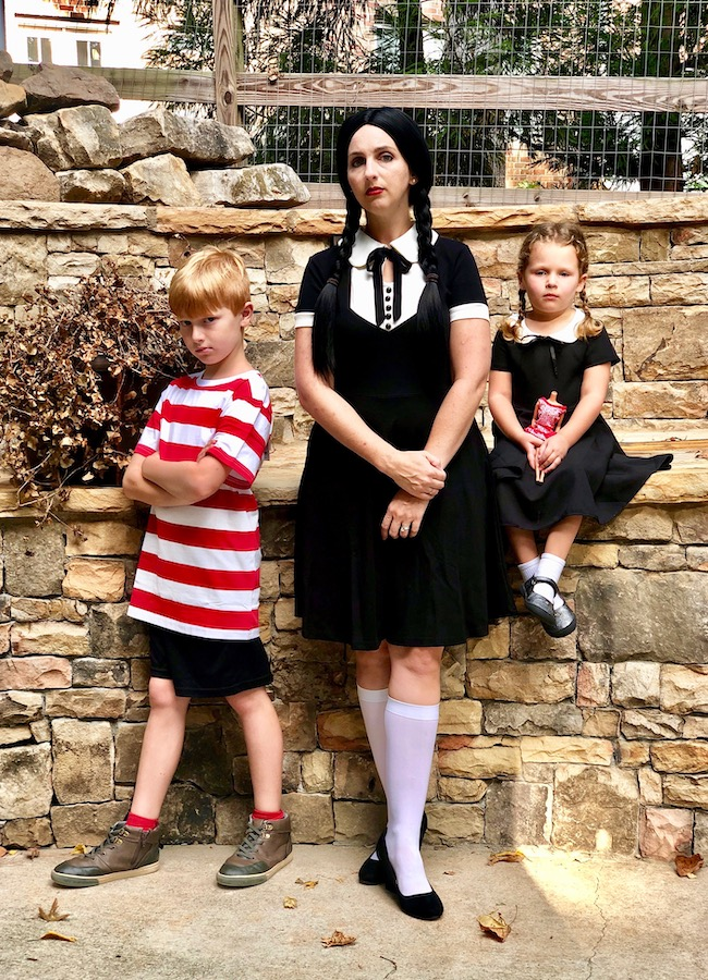 Family Costumes - The Addams Family - Wednesday and Pugsley Addams
