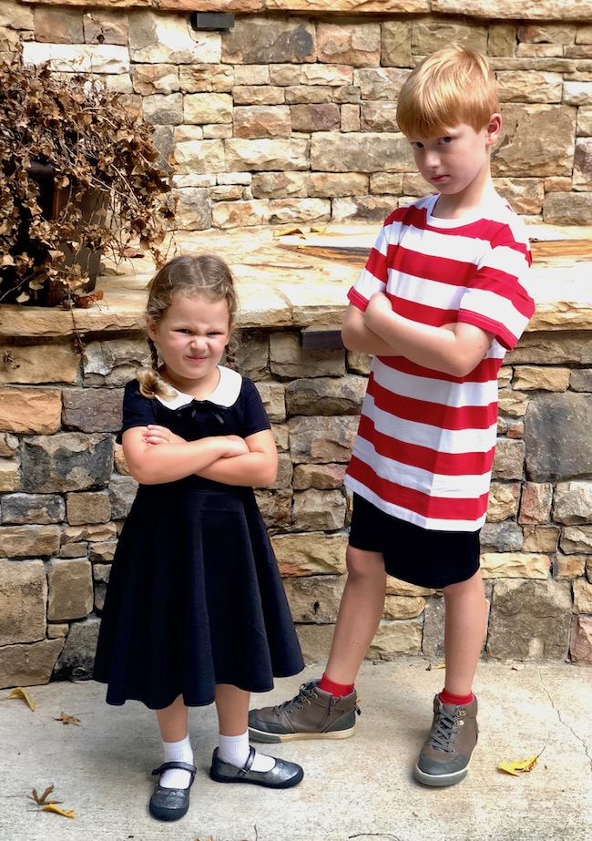 Family Costumes - Pugsley and Wednesday Addams