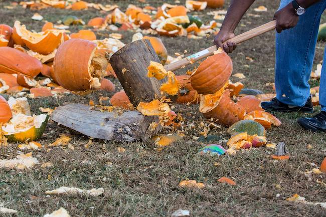 Smash your pumpkins in November