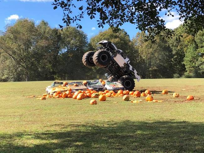 PUmpkin Destruction Day at the Rock Ranch