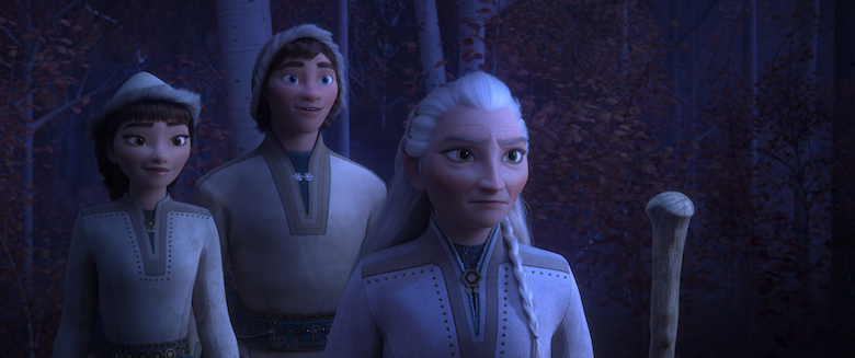 The Sami people as depicted in Frozen 2 HONEYMAREN, RYDER and YELANA.