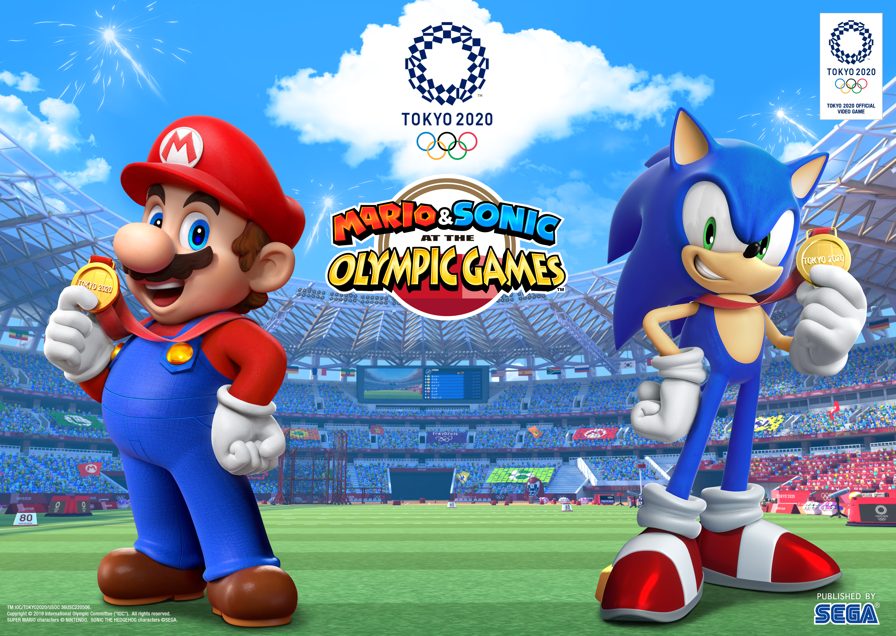 Mario & Sonic at the Olympic Games Tokyo 2020 for Nintendo Switch Artwork