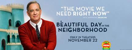 A BEAUTIFUL DAY IN THE NEIGHBORHOOD promotion with Mr. Rogers