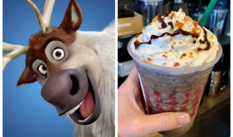 Sven collage with character and secret starbucks drink