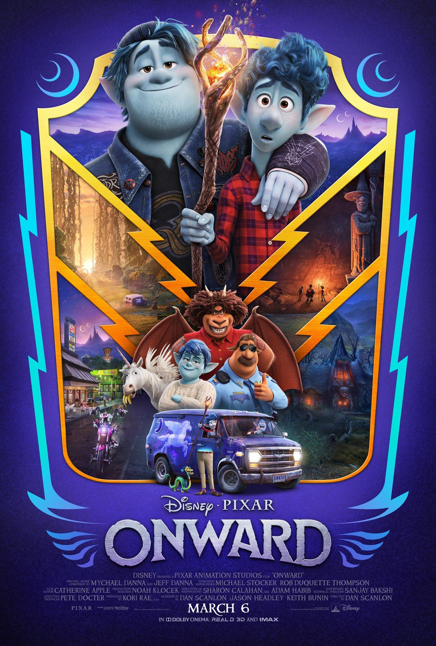 Disney pixar onward title poster