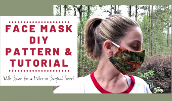 Free surgical face mask pattern and tutorial