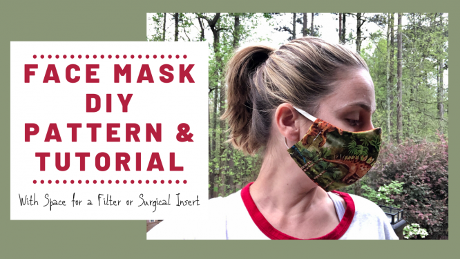 Free Face Mask Pattern & DIY Tutorial with Pocket for Surgical Insert - Redhead Baby Mama