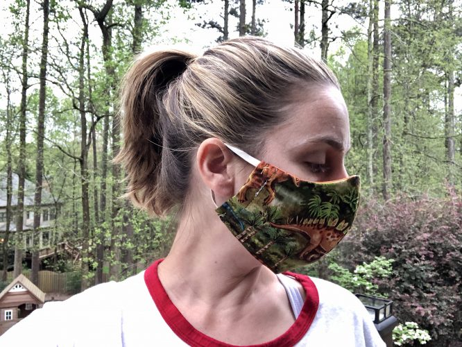 free face mask pattern with pocket