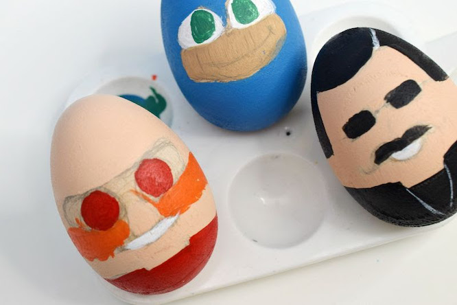 Sonic Hedgehog Wooden eggs painted