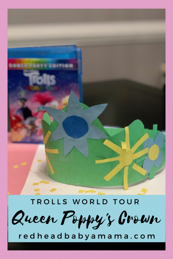 pin for the paper crown for poppy: trolls world tour
