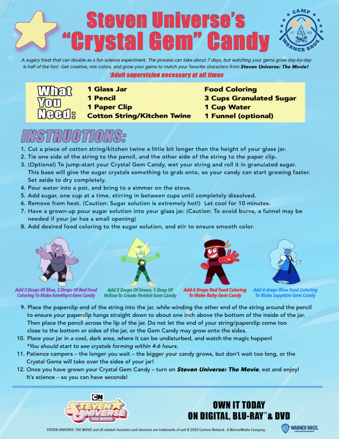 steven universe crystal gem candy recipe