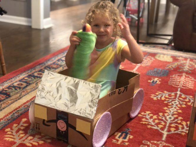 diy cardboard car little