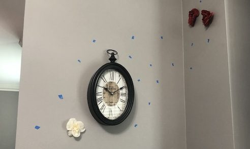tape marks for flower wall