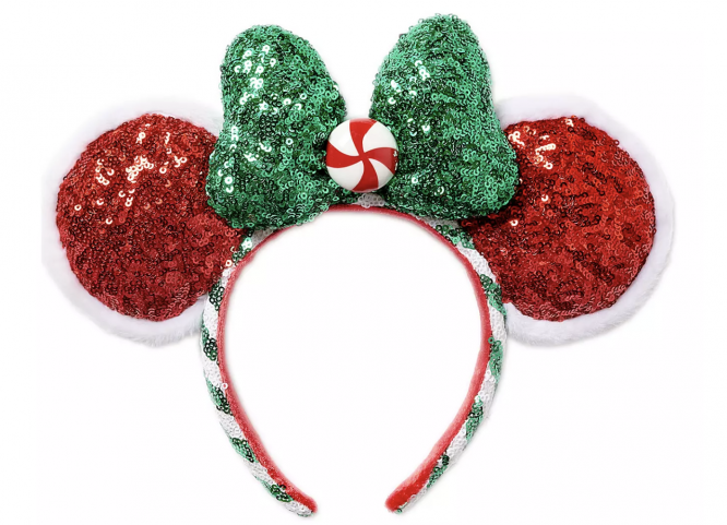 peppermint Minnie mouse ears