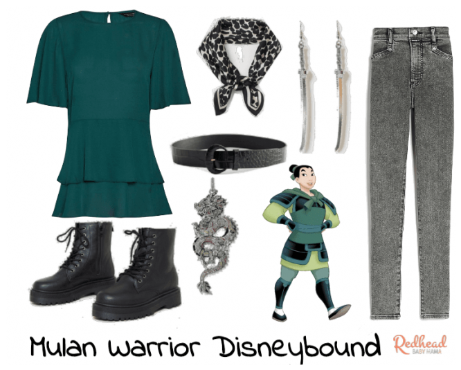 mulan armor disneybound