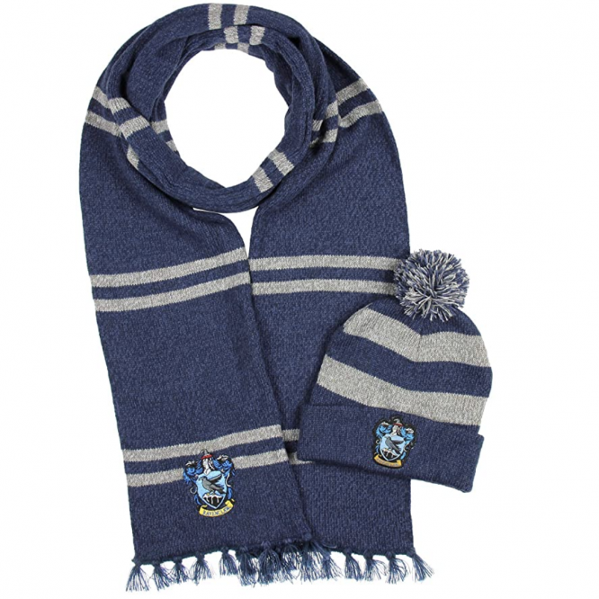 hogwarts house winter scarf set