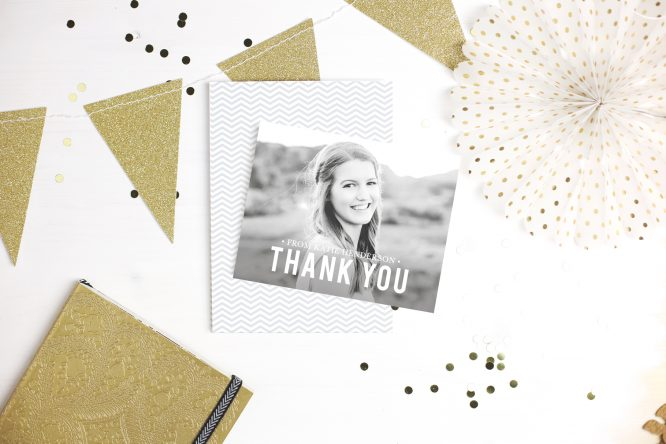 basic invite graduation thank you cards